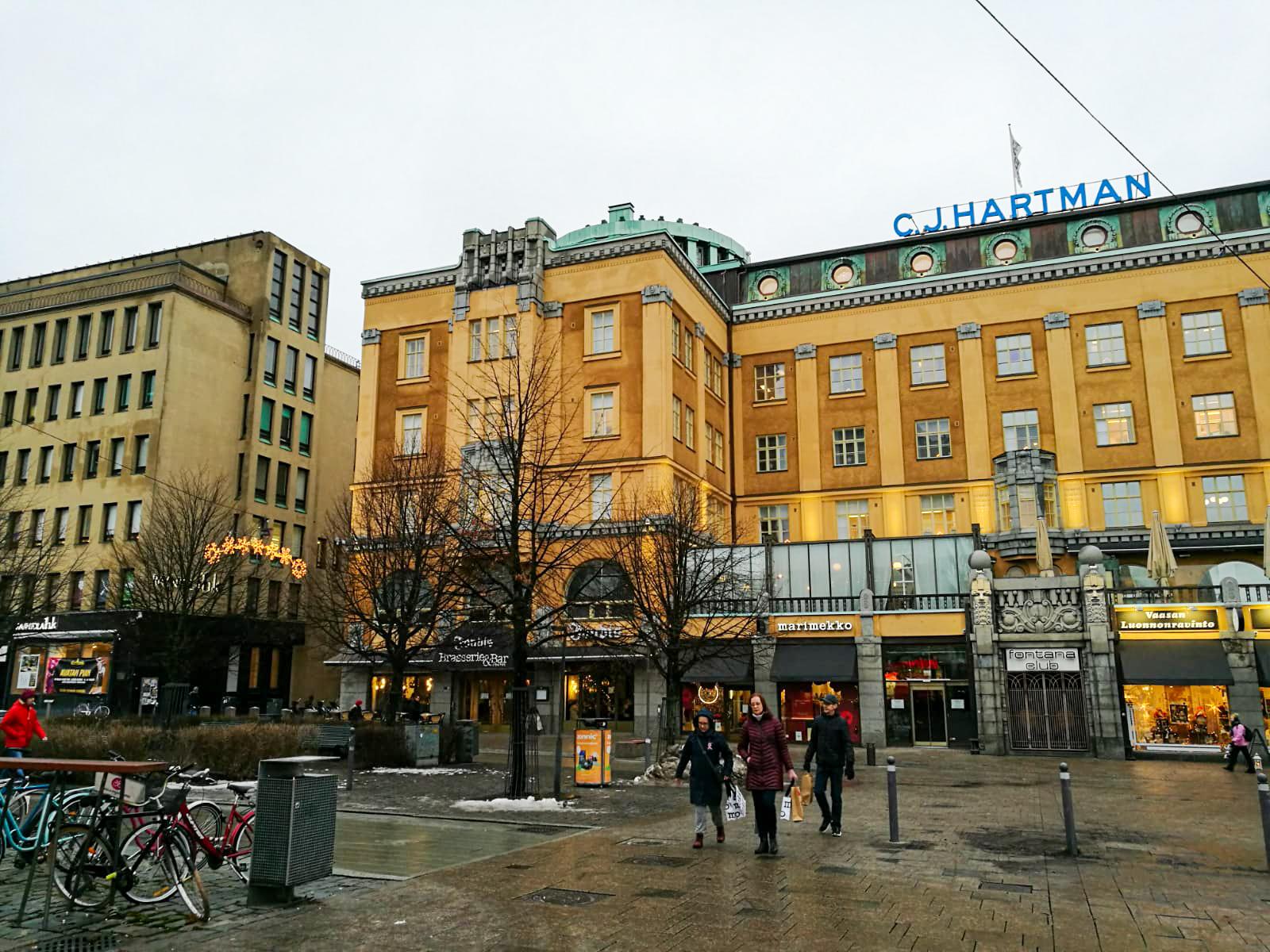 I det här huset finns det nya kansliet i Vasa.